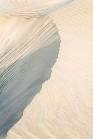 White sand dune in southern Madagascar photo