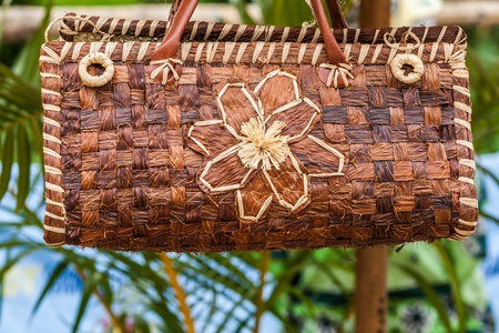 hand woven: Wooven craft basket from Madagascar