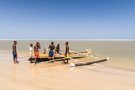 Malagasy people of ethnicity Vezo going fishing on oct 29, 2007 to Morondava, western Madagascar