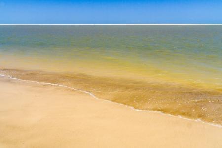 sandbank: Beach and sandbank of Morondava, western Madagascar Stock Photo