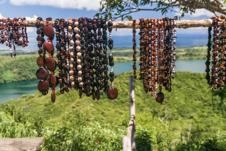 seed beads: Necklaces of seeds in Nosy Be island, northern Madagascar