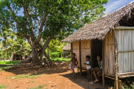 Malagasy typical village in Nosy Be, north of Madagascar Stock Photo - 18724042