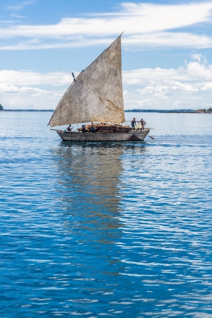 traditional goods: Traditional malagasy dhow transporting goods near Nosy Be, Madagascar on apr 4, 2008