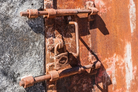 Old rusty lock of penal colony Stock Photo - 20365341