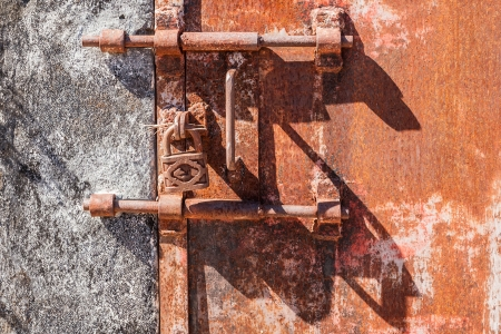 Old rusty lock of penal colony Stock Photo - 21193490