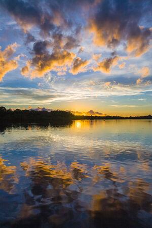 Sunrise on the inlets near Nosy Be, Madagascar photo
