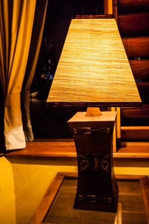 Craft lamp lit in a luxury hotel Stock Photo - 24417261