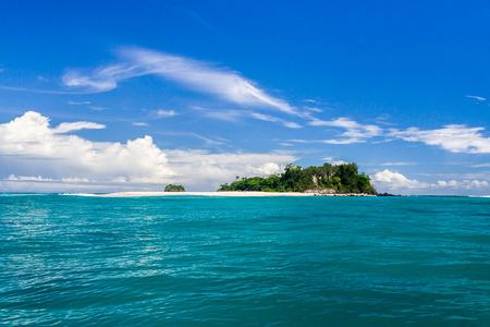 Tropical island and sandbank in Nosy Be, Madagascar
