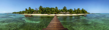 Panoramic view of Sainte Marie Island, East of Madagascar Imagens