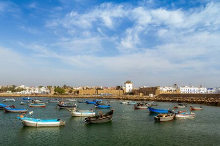 fishingboats: The port and the ancient medina of Asilah, North of Morocco