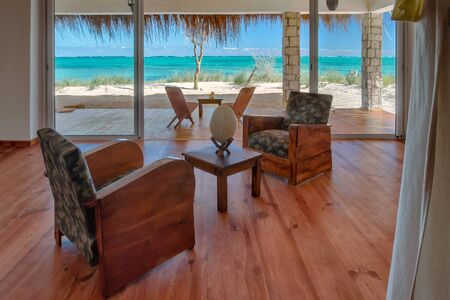 seaview: Luxury lounge of a suite with seaview in Ankasy, south-west of Madagascar