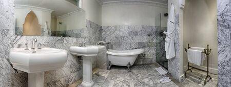 luxury bathroom: Spacious bathroom of a luxury suite