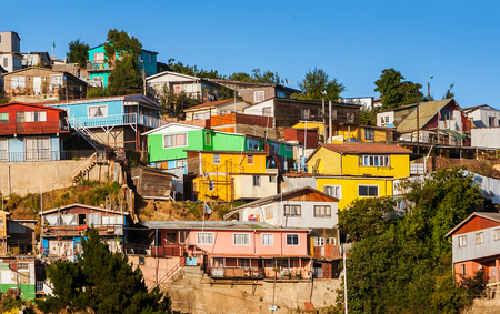 Valparaisos colorful and steep neighborhood Editorial