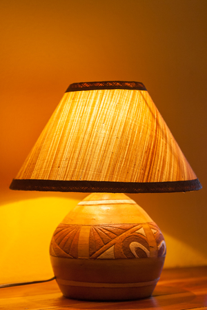 Bedside lamp in a luxury hotel