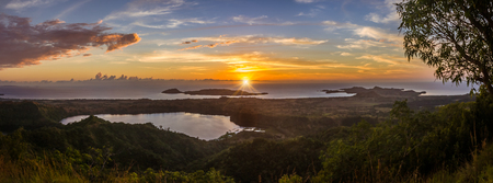 Sunset on Nosy Be island view from Mont Passot, north of Madagascar Stock Photo