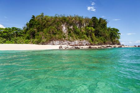 uninhabited: Nosy Fanihy, the bats island, deserted islet near Nosy Be, North of Madagascar. Stock Photo