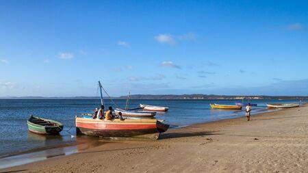 Antsiranana, Madagascar, October 13, 2016: Malagasy people on the Ramena beach near Diego Suarez (Antsiranana) Editorial