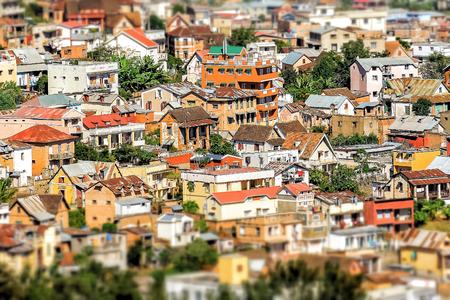Typical architecture of Antananarivo, the capital of Madagascar Stock Photo