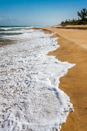 Indian Oceans beach of eastern Madagascar Stock Photo