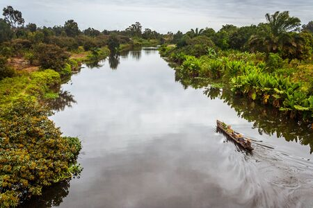 The Pangalanes channel, eastern Madagascar