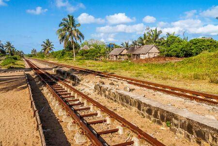Train tracks along the Pangalanes Canal, Eastern Madagascar