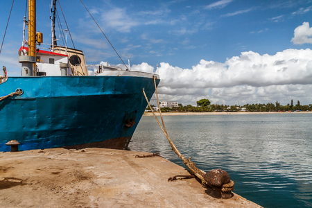 Ship moored in the dock of thr port of Toamasina (Tamatave), East of Madagascar