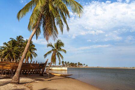 shipbuilding: The shipyard and the village of Belo sur Mer, western Madagascar
