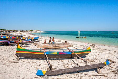 Tsifota, Madagascar, June 09, 2017: The fishing village of Tsifota in southwestern Madagascar