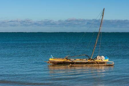 Malagasy outrigger canoe in Ankasy, southwestern Madagascar