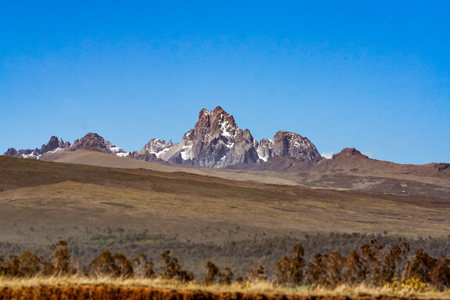 Mount Kenya, second highest mountain in Africa