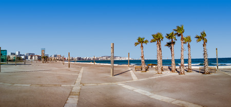 Seafront of Tangier, Morocco, located on the North African coast at the entrance to the Strait of Gibraltar. Banque d'images