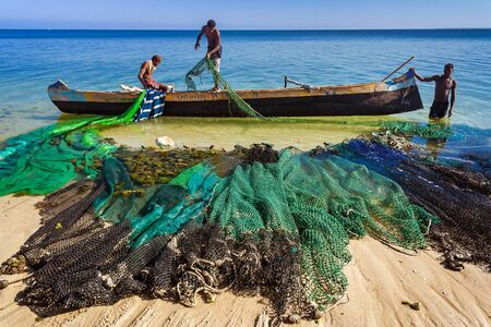 Fishing scene in Ifaty, Madagascar
