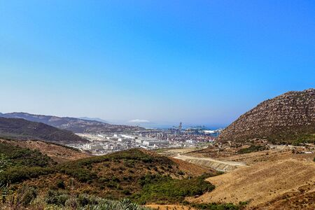 The port of Tangier Med located on the Strait of Gibraltar in northern Morocco is the largest port in Africa Banque d'images