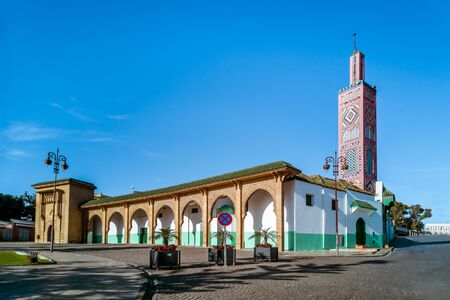 The Sidi Bou Abib Mosque on the place du 9 avril 1947  in Tangier, North of Morocco Banque d'images