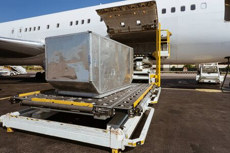 Loading platform of freight to the aircraft