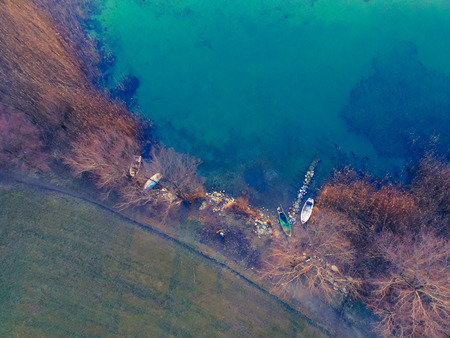 Looking at the lake from above
