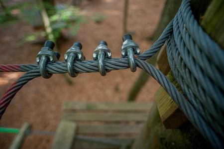 Ancre avec des cordes en acier Banque d'images - 90533756