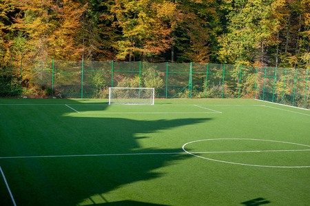 soccer field in synthetic grass