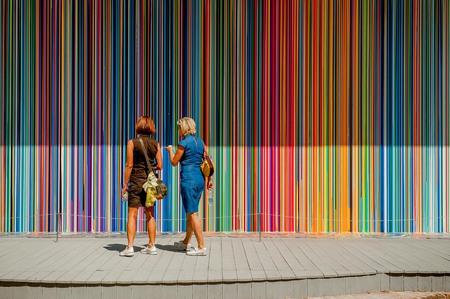 Veneza Itália Agosto de 2017: 57ª Bienal de Arte Foto de archivo - 91155961
