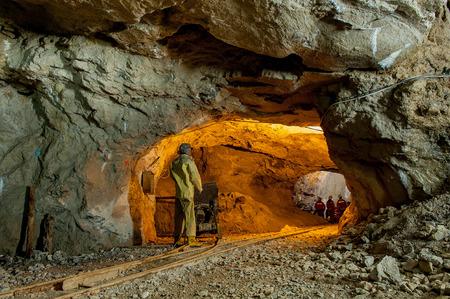 spectacular zinc mine in disuse