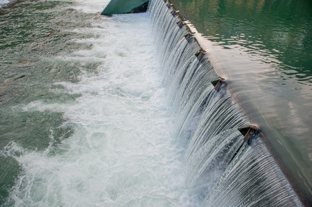 embibhoration barrier for hydroelectric power plant Фото со стока - 93248915