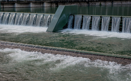 embibhoration barrier for hydroelectric power plant