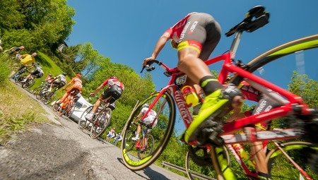Tour of italy, cycle ride at stages