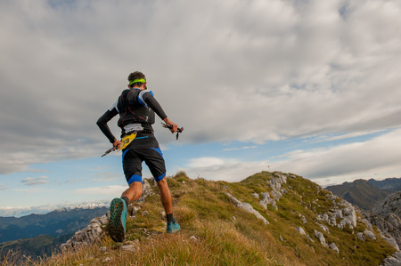 Bergamo Italy: September 2017 mountain race of 38 km