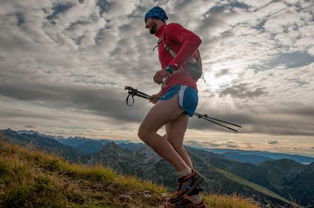 Bergamo Italy: September 2017 mountain race of 38 km