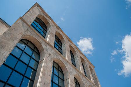 twentieth century building modern art gallery Stock Photo