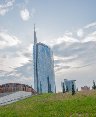 milano italia 30aprile 2018: new economic district built on a human scale Editorial