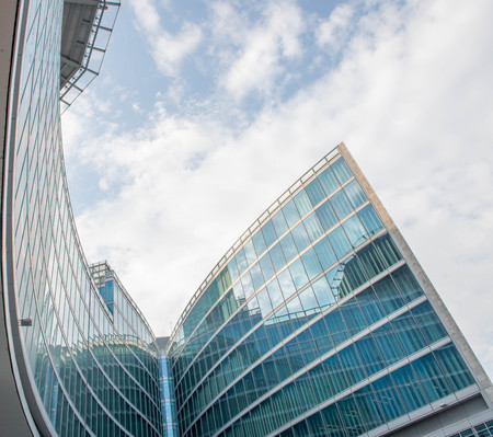milano italia 30aprile 2018:modern steel and glass building, seat of the regional council of lombardia