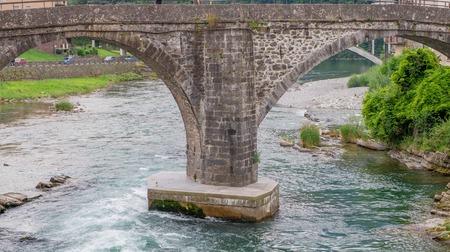 Roman bridge on the river brembo in San Giovanni Bianco