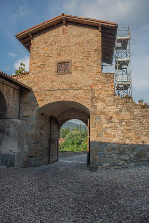 gateway to the fortified city of Bergamo Banco de Imagens